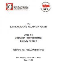 Batı Karadeniz Kalkınma Ajansı 2011 DFD Başvuru Rehberi