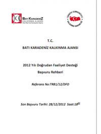 Batı Karadeniz Kalkınma Ajansı 2012 DFD Başvuru Rehberi