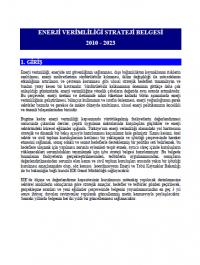 2010-2023 Enerji Verimliliği Stratejisi