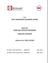 Batı Karadeniz Kalkınma Ajansı 2014 KOBİ MDP Başvuru Rehberi